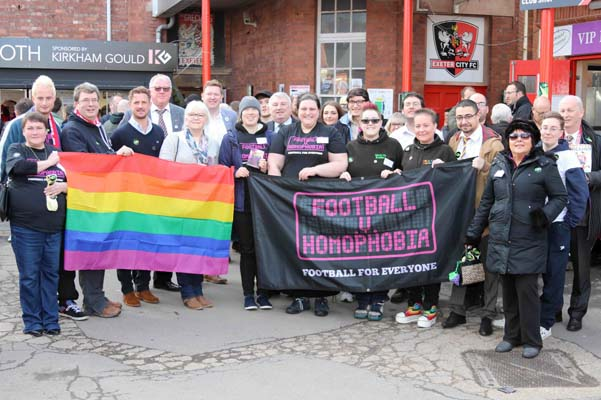 Exeter City FC say no to homophobia