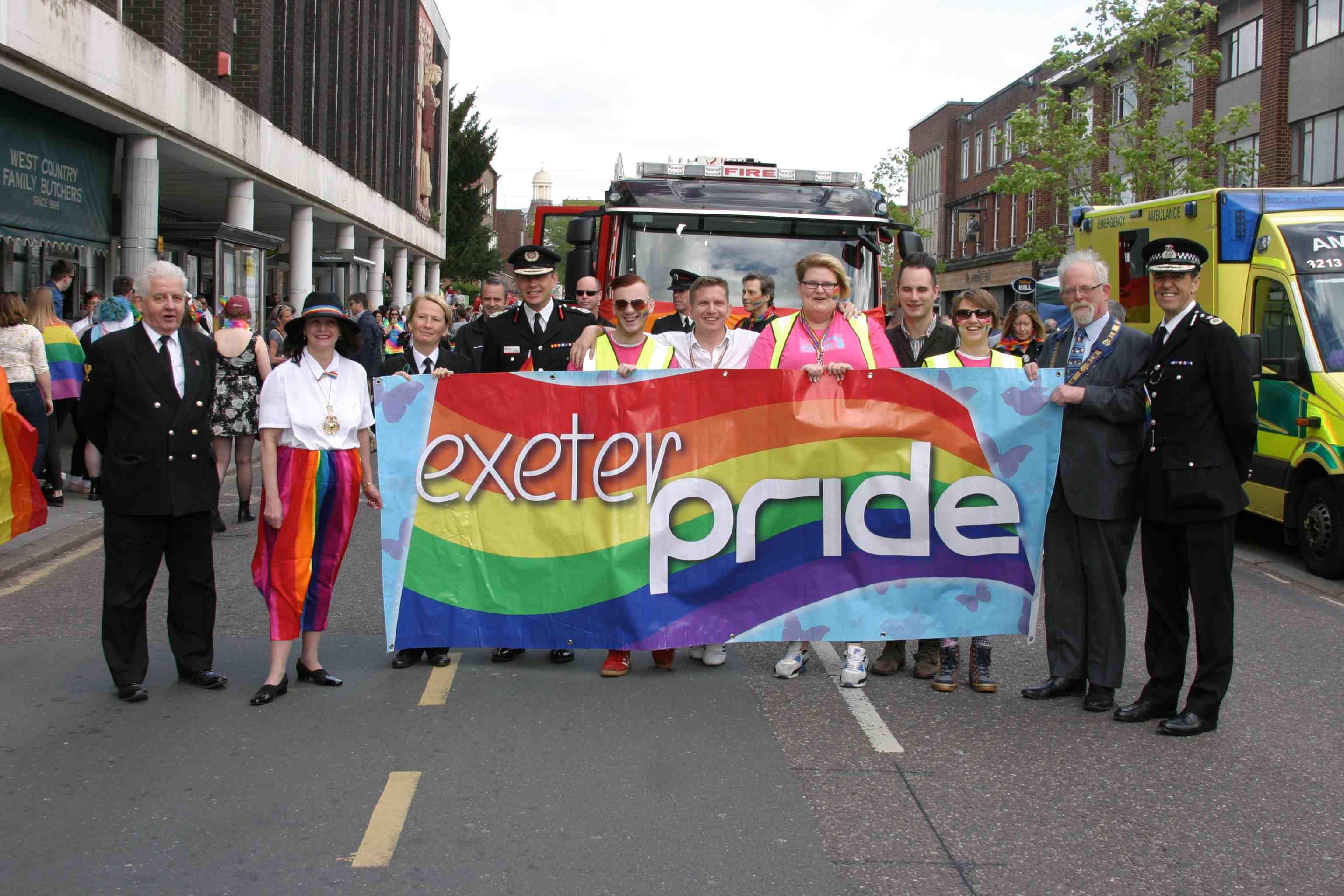 Celebration theme to Exeter's 10th LGBT+ Pride