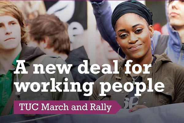 TUC march for new deal for working people on May 12
