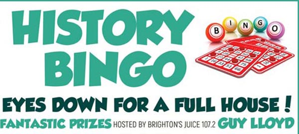 Today at B RIGHT ON LGBT Community Festival: LGBT History Bingo – With Guy Lloyd from Juice 107.2