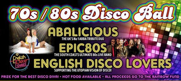 Tonight at the B RIGHT ON LGBT Community Festival: 70s/80s Disco Ball goes ahead at 7.30pm