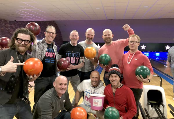 £250 raised for MindOut at BLAGSS bowling extravaganza