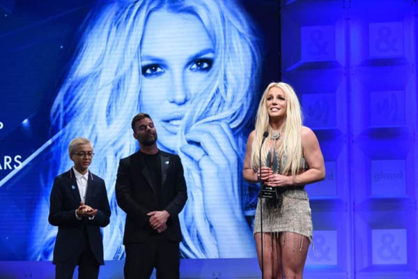 Britney Spears honoured with LGBT+ accolade