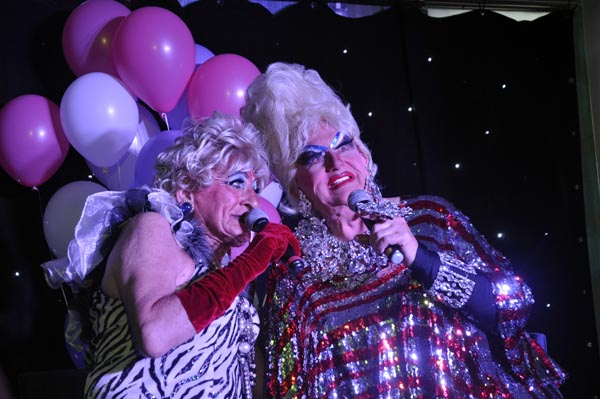 World's oldest working drag queen joins Maisie on stage at Legends