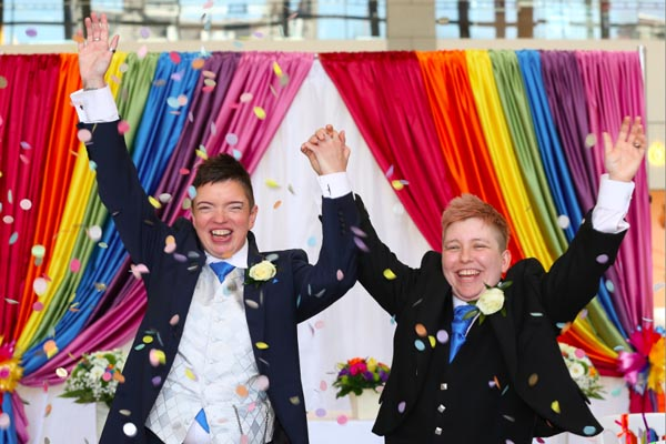 Union Square play host to same sex wedding to celebrate first Grampian Pride
