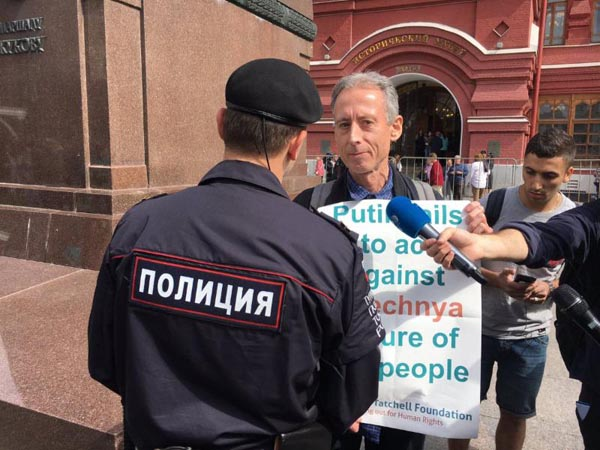 Tatchell arrested in Moscow