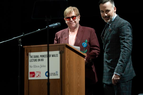 Elton calls for action from digital giants during Diana HIV lecture