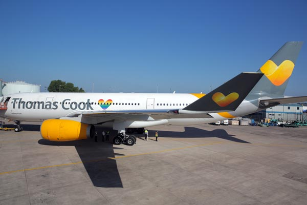 Pride in the sky from Thomas Cook Airlines