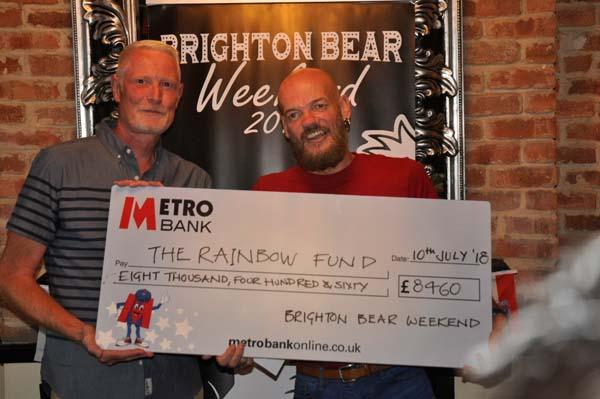 Brighton Bear Weekend raise £8,460 for Rainbow Fund