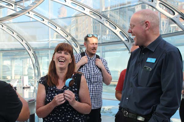 Brighthelm celebrates with volunteers and partners at 450 feet