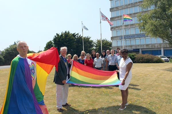 Worthing flies the Rainbow Flag for inaugural Pride