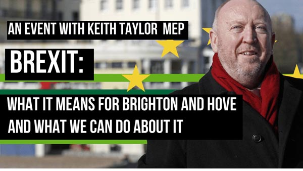Green MEP to hold BREXIT discussion in Brighthelm Centre