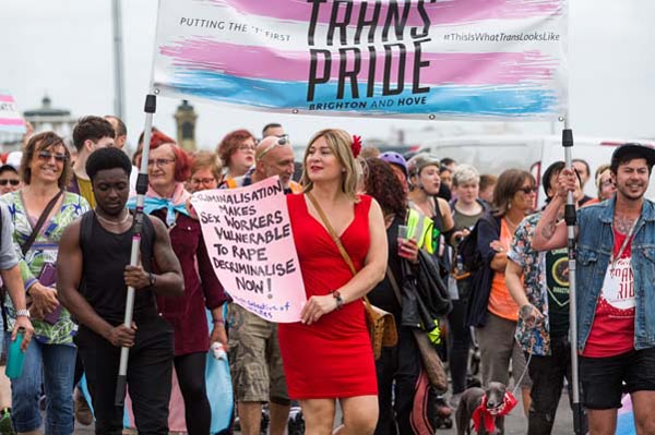 Greens to march at Trans Pride Brighton