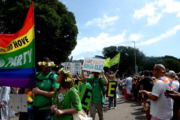 Greens call for 'lasting equality' ahead of Brighton & Hove Pride