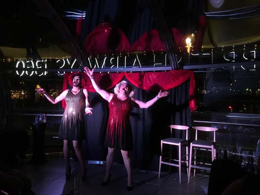 Sky-high cabaret at 450 feet with Sally and Spice