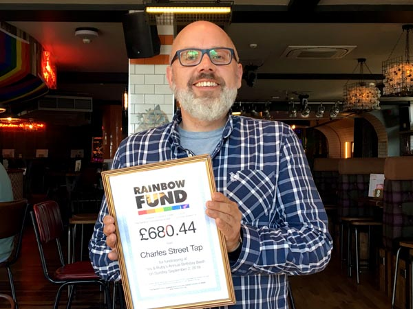 Charles Street Tap raise £680.44 for the Rainbow Fund