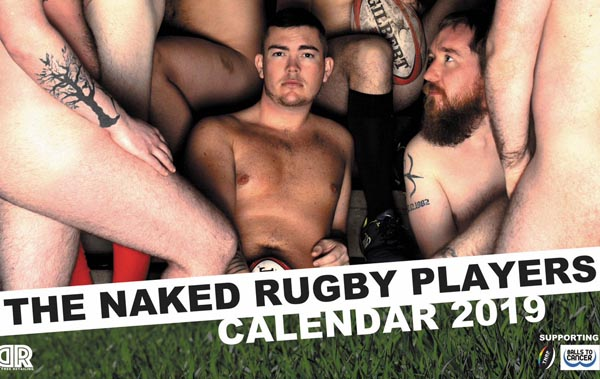 Naked Rugby Players Calendar 2019 launch party at Bar Broadway