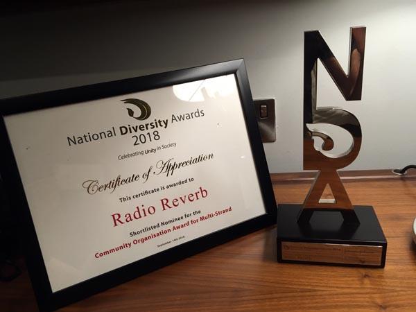 RadioReverb scoop National Diversity Award