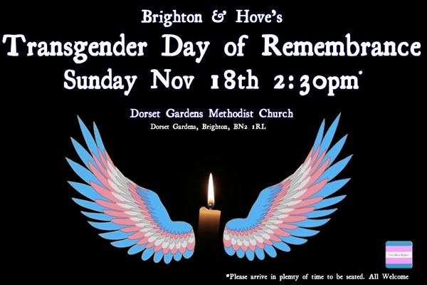 Transgender Day of Remembrance – Sunday November 18