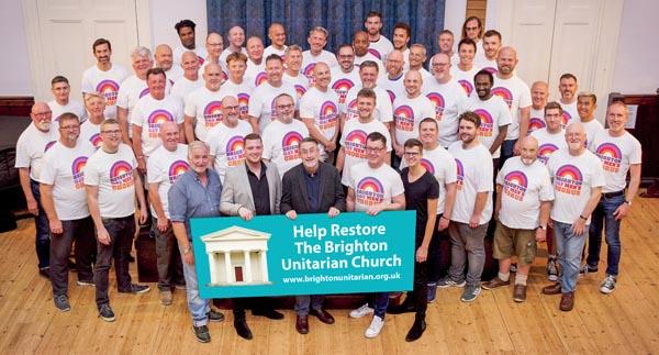 Brighton Gay Men's Chorus support Unitarian Church