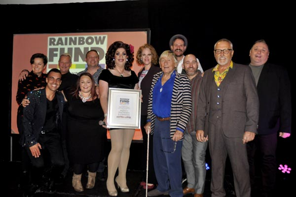 Local entertainers honoured at Rainbow Fund Awards