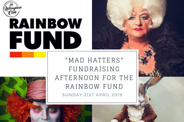 One for the diary! Mad Hatters fundraiser for Rainbow Fund at Rottingdean Club