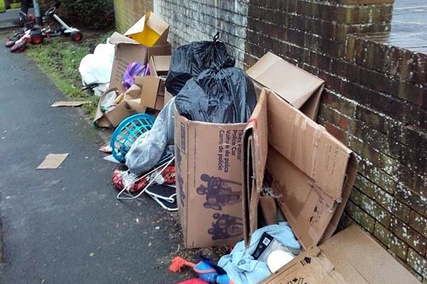 Flytipper fined £400 for dumping rubbish on Brighton street