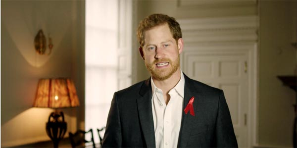 """Prince Harry calls for HIV testing to be """"completely normal and accessible"""""""