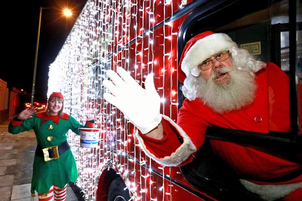 Santa's Bus is coming to town