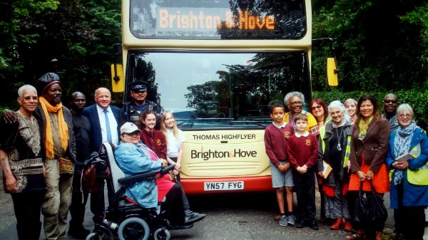 Bus company supports Black History group