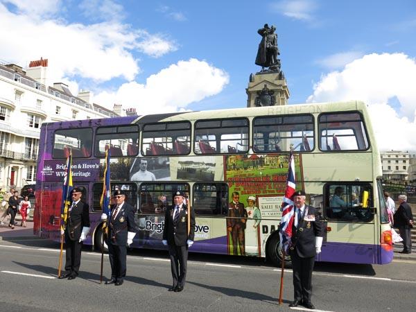 Share World War I memories on boardBrighton & Hove Buses' WWI heritage bus