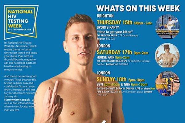 Club promoter supports National HIV Testing Week