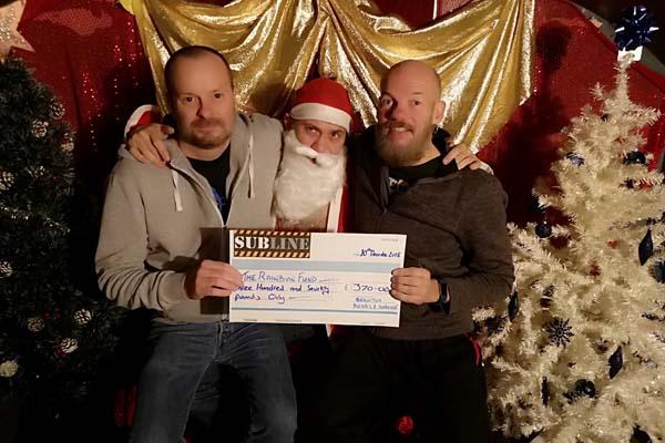 Brighton Bear Christmas parties raise £701.94 for The Rainbow Fund