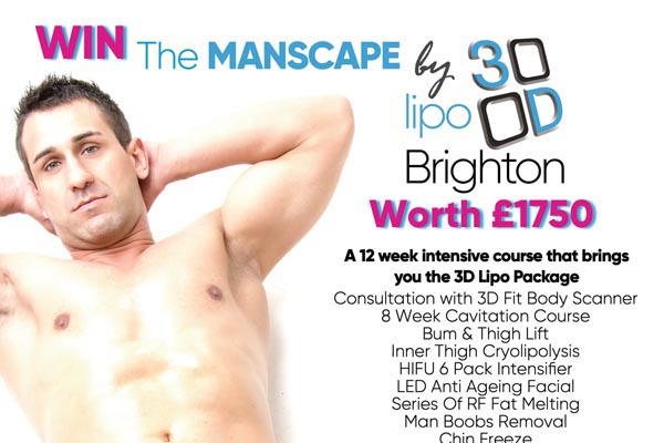 COMPETITION: Last chance to win a 3D Lipo 'Manscape' worth £1,750