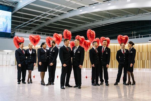 BA's Valentine's flight takes off to BA