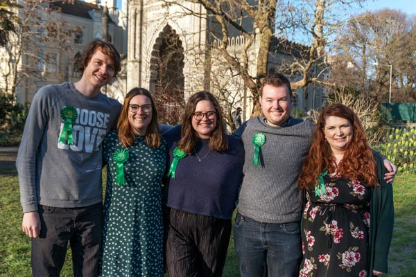 Greens announce team of young candidates for local council elections