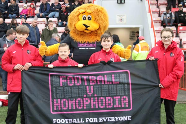 Exeter City FC take stand against homophobia for 10th year running
