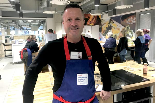 Lunch Positive volunteer takes part in first Tesco Community Cookery School