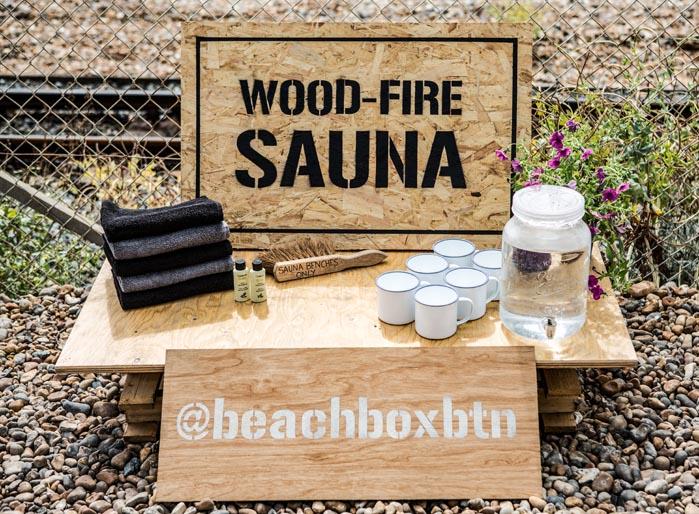 Experience an authentic Finnish sauna on Brighton beach
