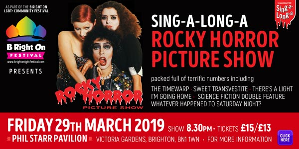 B RIGHT ON LGBT+ Community Festival: Sing-A-Long-A Rocky Horror Picture Show