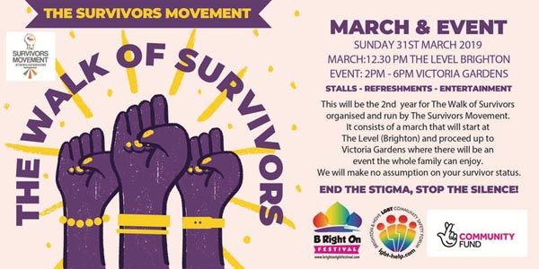 """Today at B RIGHT ON LGBT+ Community Festival: """"The Walk of Survivors"""""""