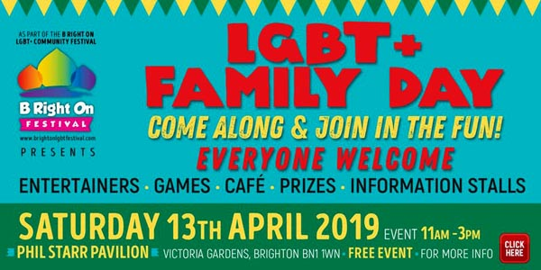 TODAY at B RIGHT ON LGBT+ Community Festival: LGBT+ Circus Themed Family Day