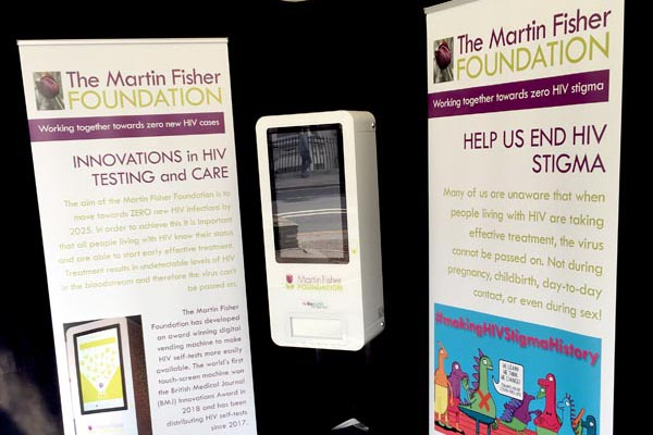 Mobile digital vending machine distributing HIV self-tests launches at B RIGHT ON LGBT+ Community Festival