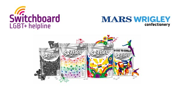 Skittles support Switchboard as they celebrate London Pride!