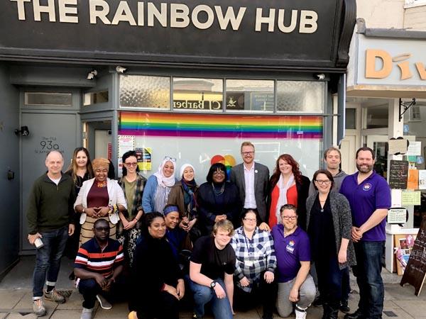 Shadow Home Secretary visits Rainbow Hub on St James Street to listen to community concerns