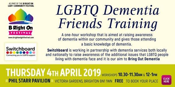 B RIGHT ON LGBT+ Community Festival: LGBTQ Dementia Friends Training