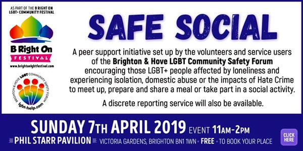 B RIGHT ON LGBT+ Community Festival: SAFE SOCIAL