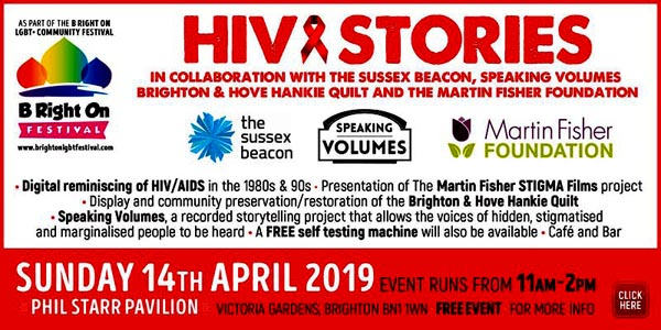 B RIGHT ON LGBT+ Community Festival: HIV Stories