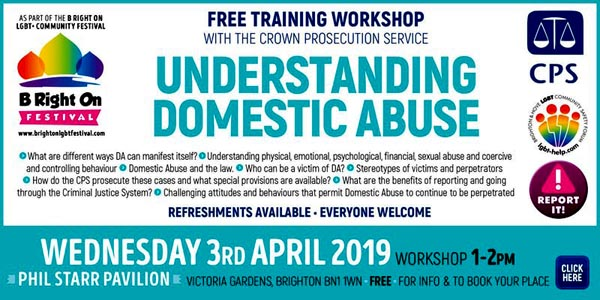 B RIGHT ON LGBT+ Community Festival: Understanding Domestic Abuse with the Crown Prosecution Service