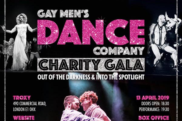 TONIGHT: Charity Gala – 'Out of the Darkness & Into the Spotlight' with Gay Men's Dance Company